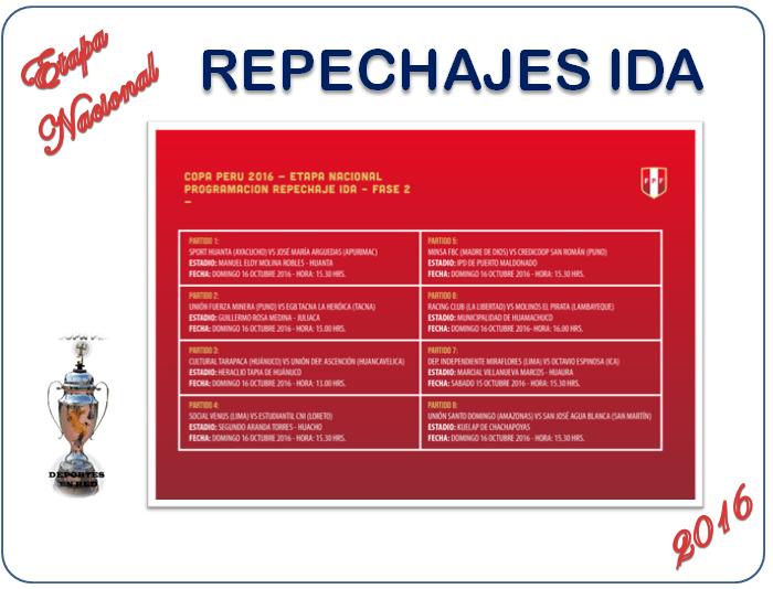 copa perú nacional repechajes ida comisión organizadora programó